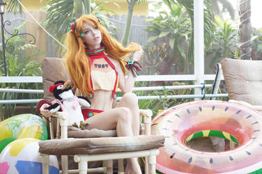 Pool - Asuka and Pen Pen II by MeganCoffey