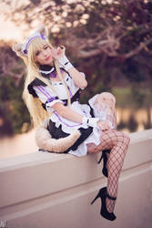 Neko Maid - Coconut III by MeganCoffey