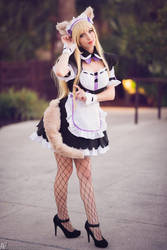 Neko Maid - Coconut II by MeganCoffey