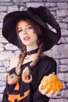 Pumpkin Witch IV by MeganCoffey