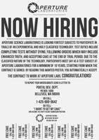 Aperture Science: Now Hiring by LabsOfAwesome