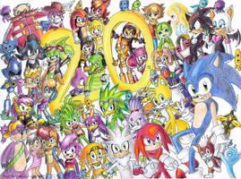 Happy 20th Birthday Sonic by Amalika