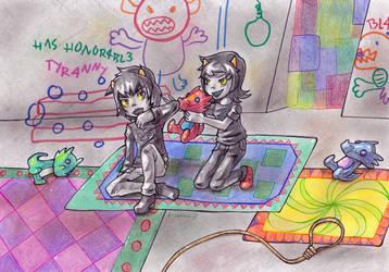 When we were kids :: ArtTrade by Amalika