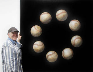 Eight Baseballs by peterswiftart
