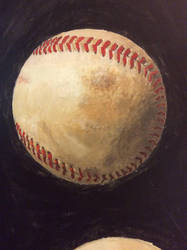 Eight Baseballs (detail) by peterswiftart