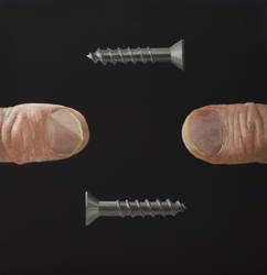 Thumbs and Wood Screws by peterswiftart