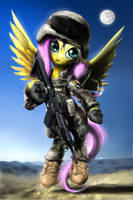 Private Fluttershy by Wylfden