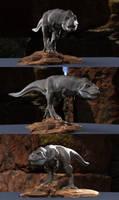 T.rex stalking pose by joel3d