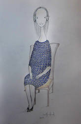 Filifionka in a blue dress by olluna