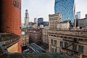 Dowtown Chicago from the Congress Plaza Hotel by arnaudperret