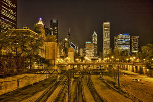 Rail Road to Dowtown Chicago by arnaudperret