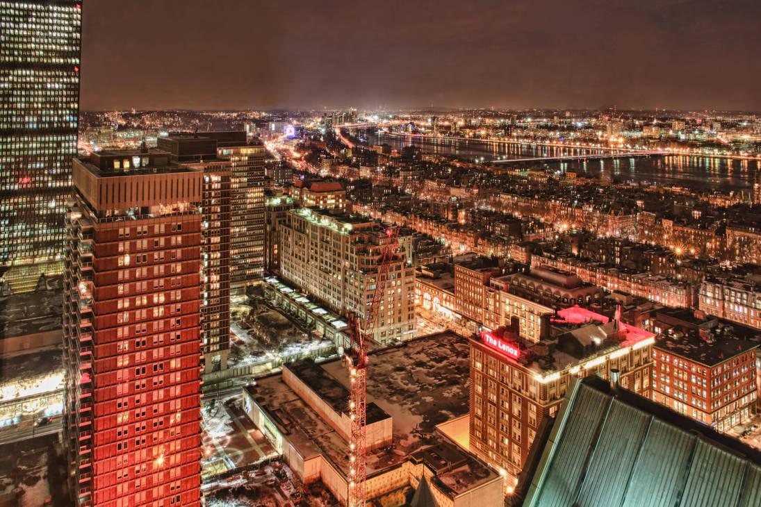 Boston at night 1 by arnaudperret