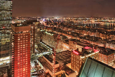 Boston at night 1 by arnaudperret