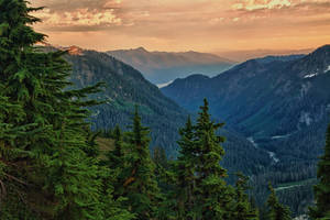 Mount Baker's Valley at sunset by arnaudperret