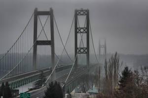Narrows Bridge and Galloping Gertie by arnaudperret