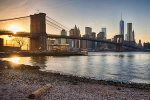 Brooklyn Bridge at Sunset by arnaudperret