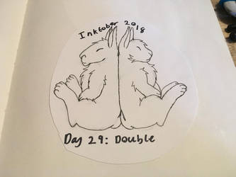 Inktober Day 29: Double by DoDoPegasus