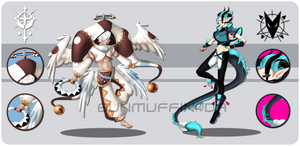 AB ADDED [OPEN: AUCTION 1/2] Angel and Demon by BunMuffin