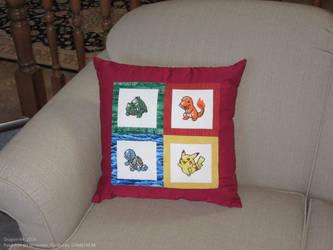 PKMN - Starters Pillow by dragon-64