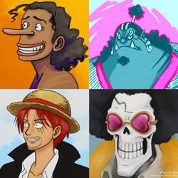 One Piece Portraits by dragon-64