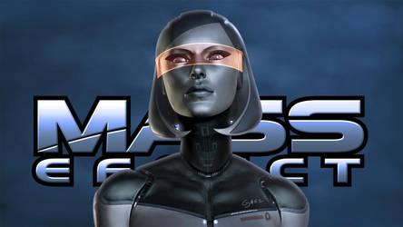 EDI. Mass Effect Wallpaper by JakeCarver