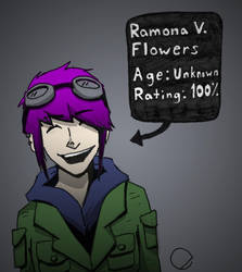 Ramona Flowers by WryFighter