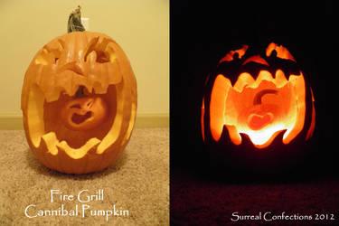 Fire Grill Cannibal Pumpkin by Afina79