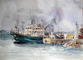 fishing boat-Parion by sunaysenturk