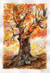 The gold autumn by MercuRusa