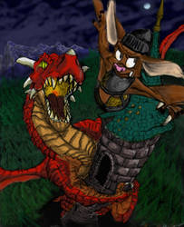 Dragon Colored by WindyKid