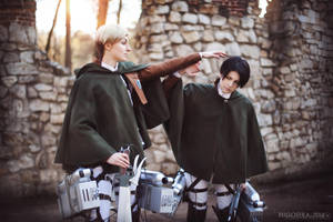Cosband WTF People - Levi, Erwin by fausto-The-Endless