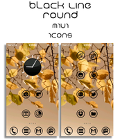 Black Line Round MIUI Icons v.2 (Updated 2-29) by vanessaem