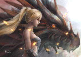 Dragon Warrior by blackmomo96