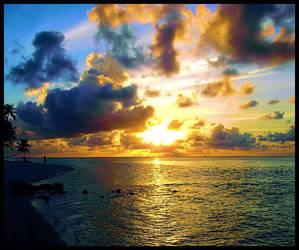 Sunrise in Meeru, Maldives by Galaxy-