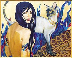 cats by hallah-fattah