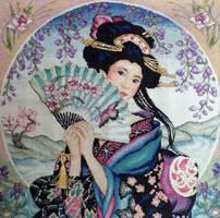 Geisha Cross stitch by Olcanna