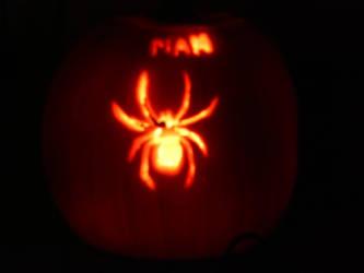 Spider-Man Pumpkin Carving by soraissupercute