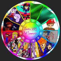 Tenie's Summary of Art 2015 by GamerGirlNinten-SEGA