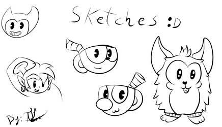 Sketches Random by GamerGirlNinten-SEGA