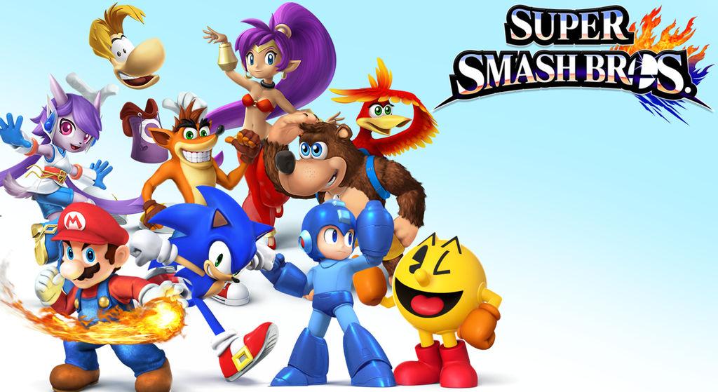 Super Smash Bros 4 Wallaper by GamerGirlNinten-SEGA