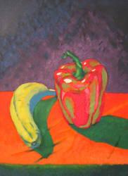 Banana and Pepper Still Life by Pauletta90