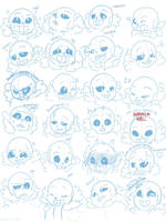 24 expressions of Sans by CXmiao