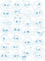 27 expressions of Sans by CXmiao