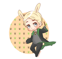 Chibi Bunny Draco by Cremebunny