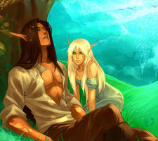 WoW: Valaeli and Phelis by Altana