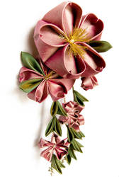 Nanako: Kanzashi Barrette by fourwillows
