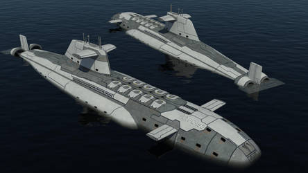 Type-192 Fast Attack Submarine by Helge129