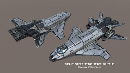 STS-177 Single-stage/VTOL Space plane by Helge129