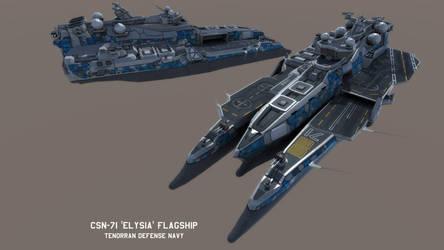 TDN CSN-71 'Elysia' class Flagship by Helge129
