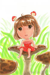 Gift: Mushroom Girl by yueyuetan